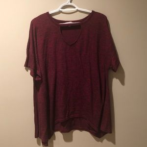 Burgundy juicy couture shirt